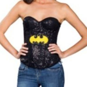 NWOT Rubie's Size Small Batgirl Sequin Corset